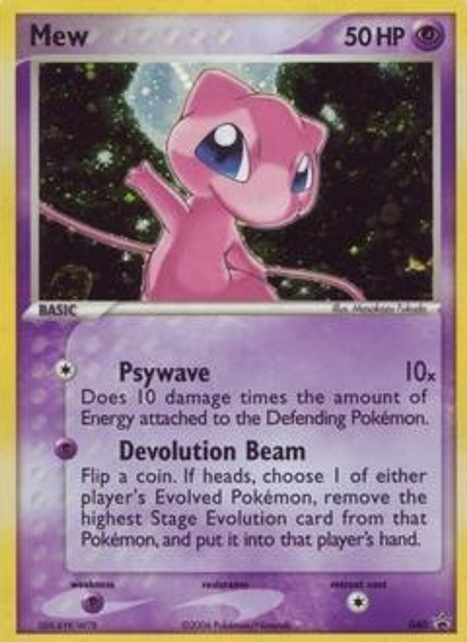Pokemon Promo Cards Rare Holo Mew #040