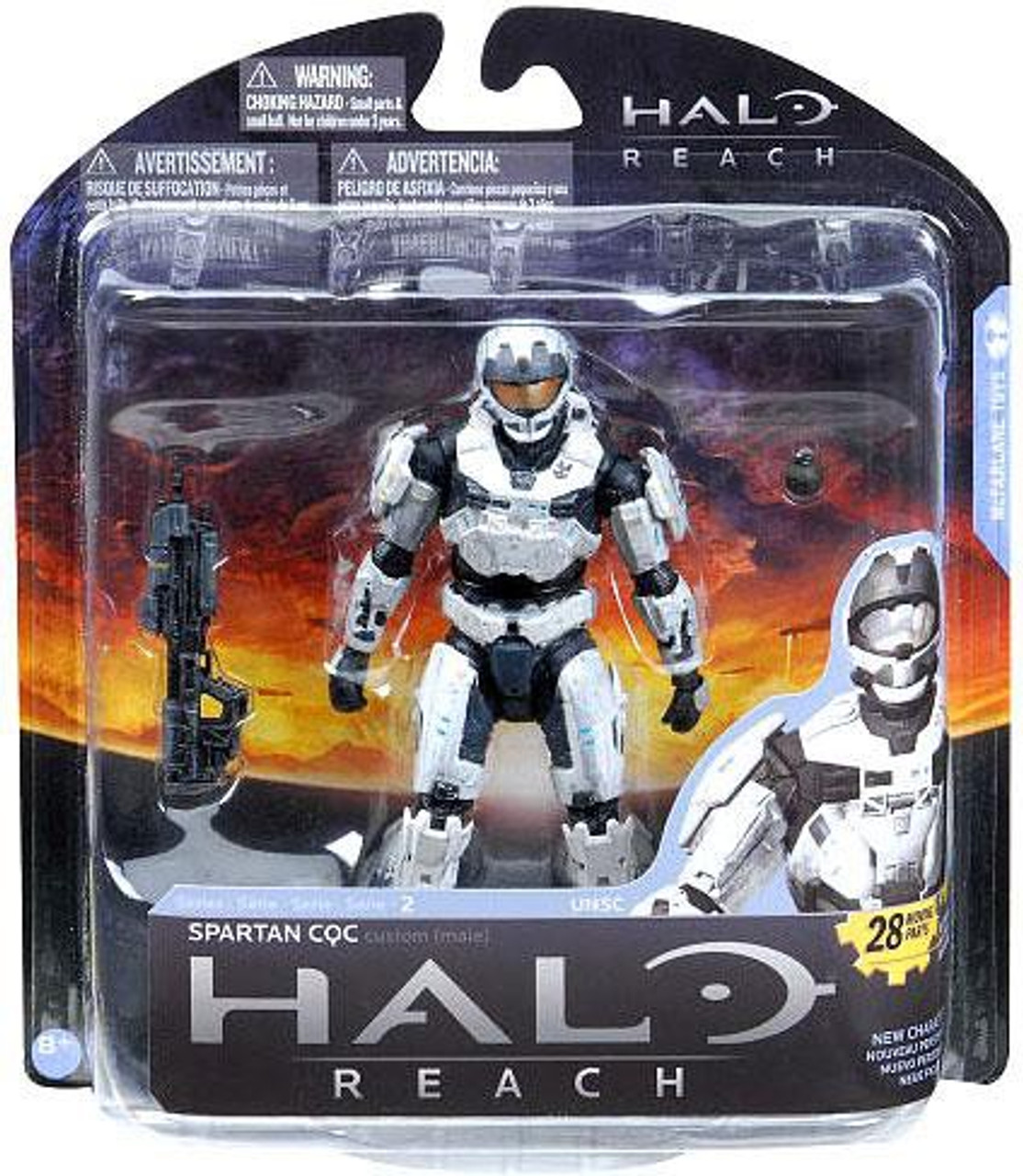 McFarlane Toys Halo Reach Series 2 Spartan CQC Action Figure [White]