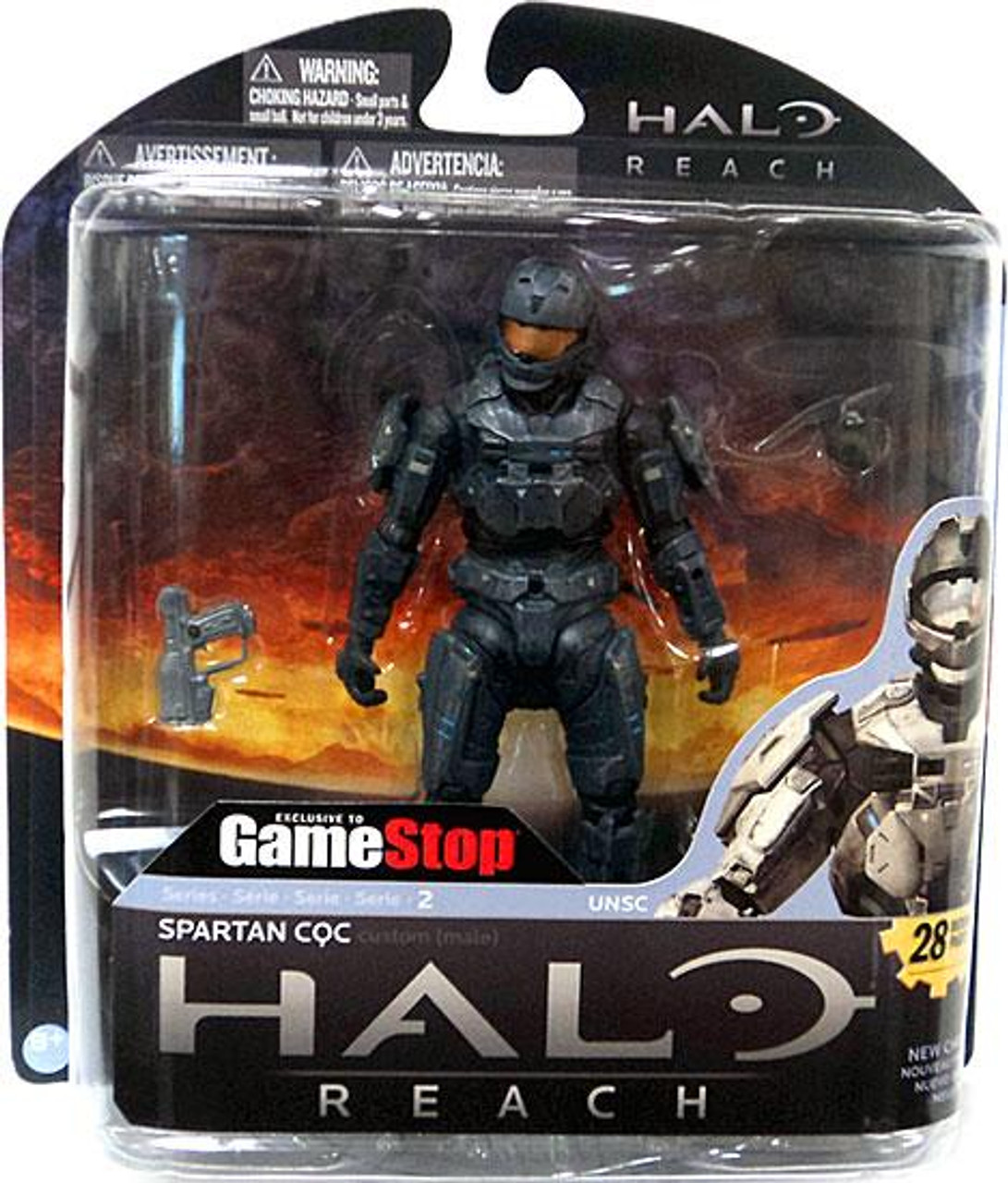 McFarlane Toys Halo Reach Series 2 Spartan CQC Exclusive Action Figure [Steel]
