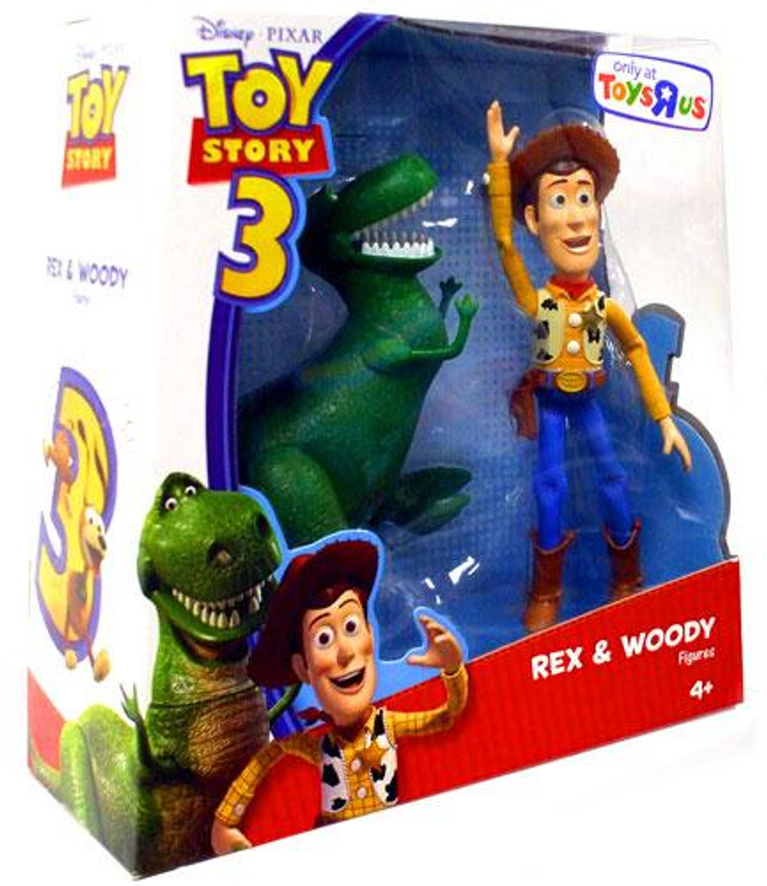 Toy Story 3 Rex & Woody Exclusive Action Figure 2-Pack