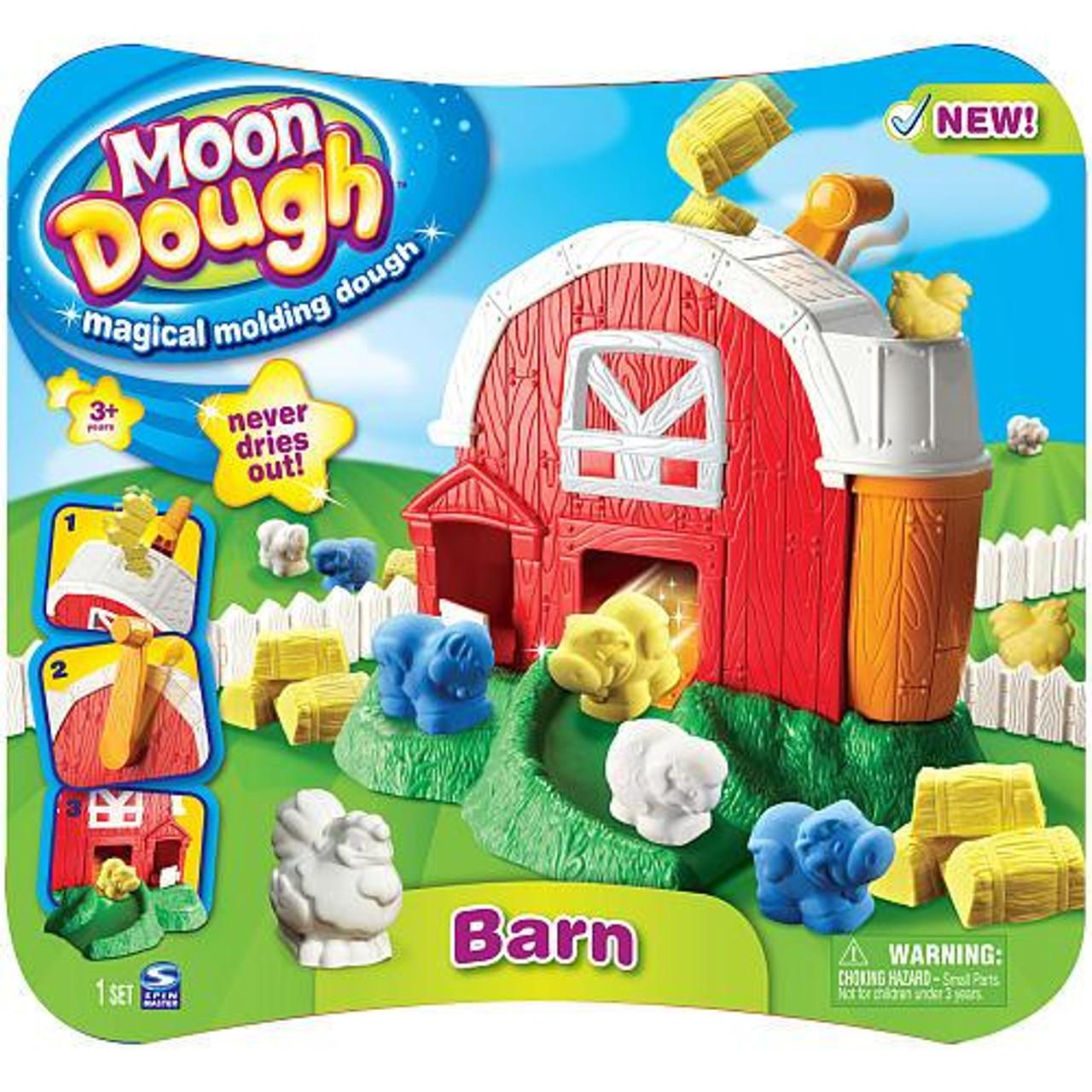 Moon Dough Magical Molding Dough Barn Playset