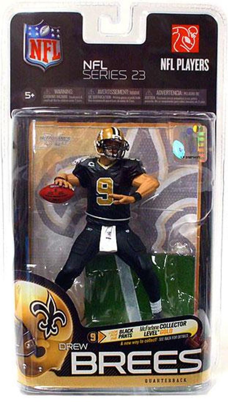 McFarlane Toys NFL New Orleans Saints Sports Picks Series 23 Drew Brees Action Figure [Black Pants]