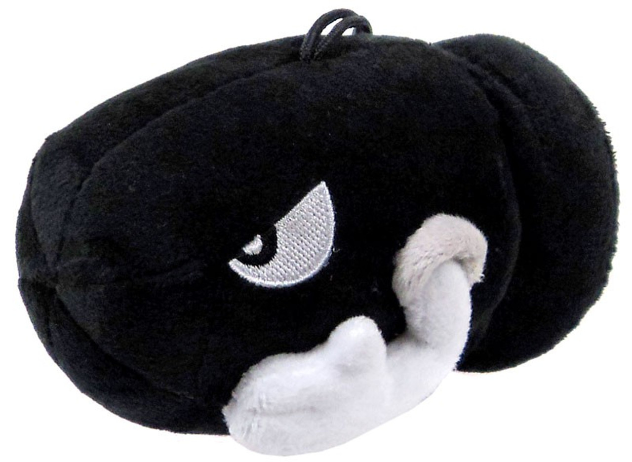 Super Mario Bros Bullet Bill 4.5-Inch Plush