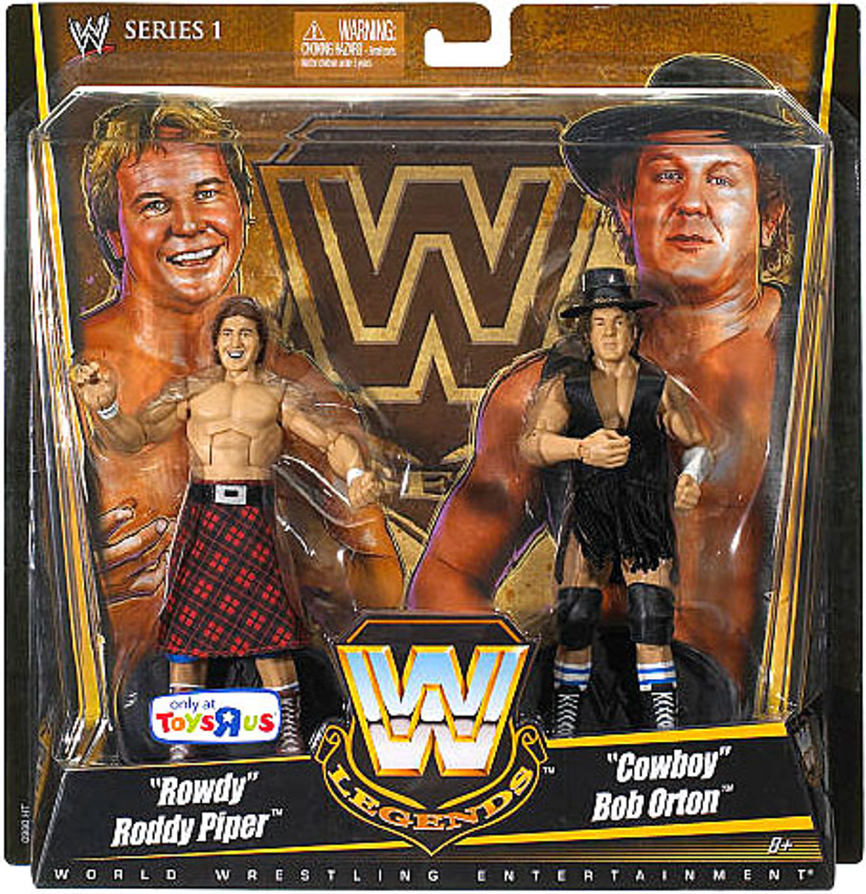 WWE Wrestling Legends Series 1 Rowdy Roddy Piper & Cowboy Bob Orton Exclusive Action Figure 2-Pack