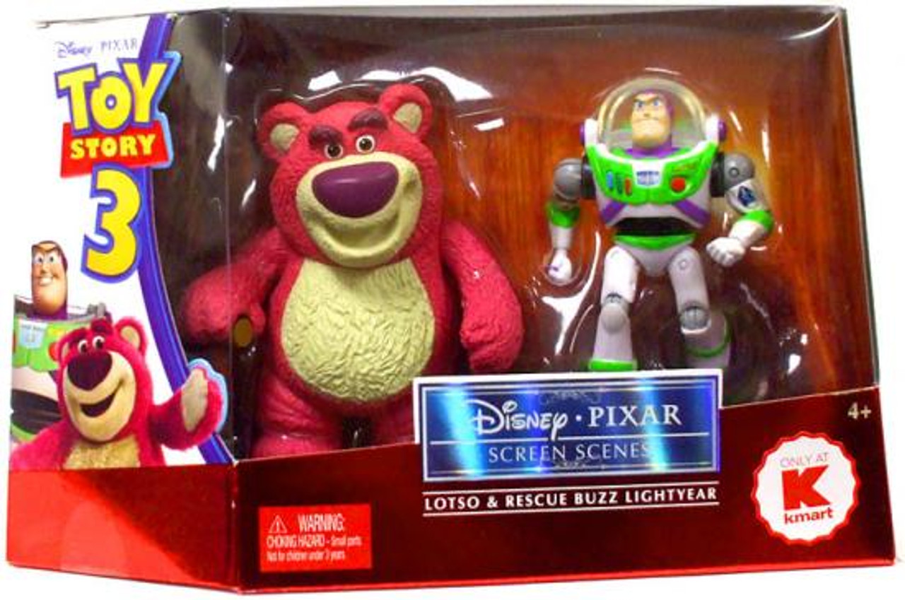 Toy Story 3 Disney Pixar Screen Scenes Lotso & Rescue Buzz Lightyear Exclusive Action Figure 2-Pack