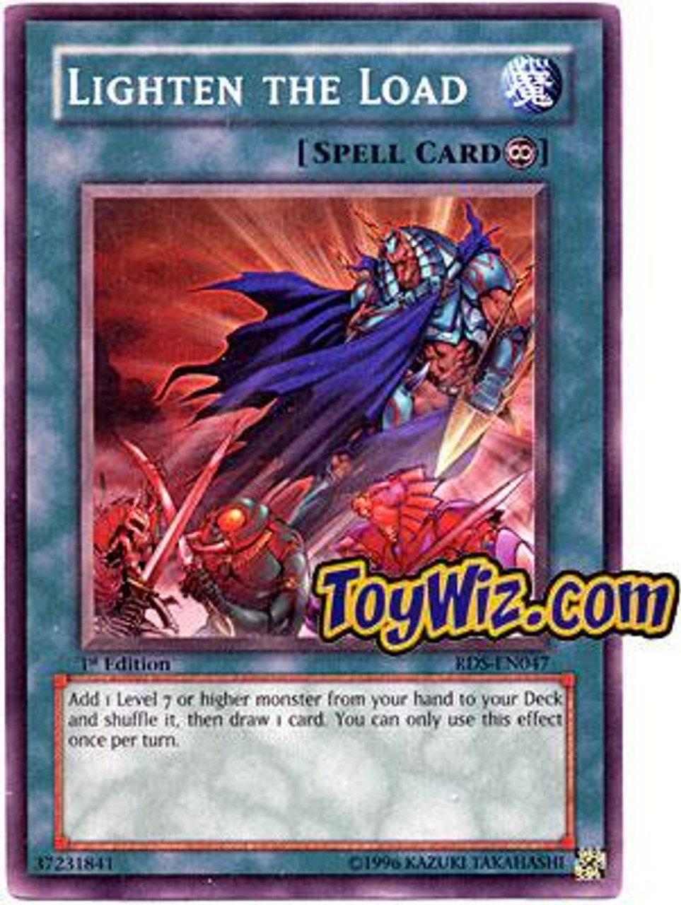 YuGiOh Rise of Destiny Common Lighten the Load RDS-EN047