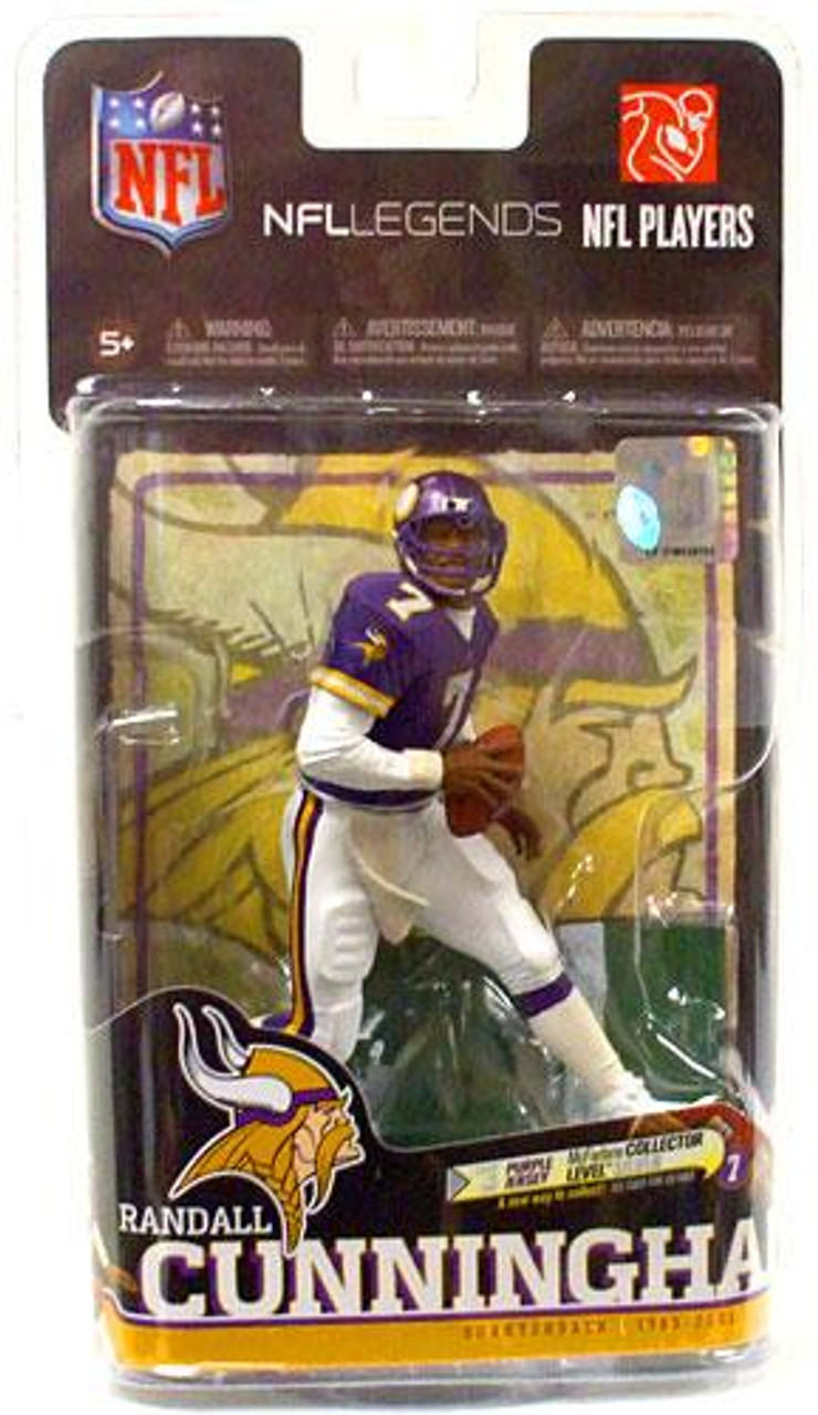 McFarlane Toys NFL Minnesota Vikings Sports Picks Legends Series 6 Randall Cunningham Action Figure [Purple Jersey]