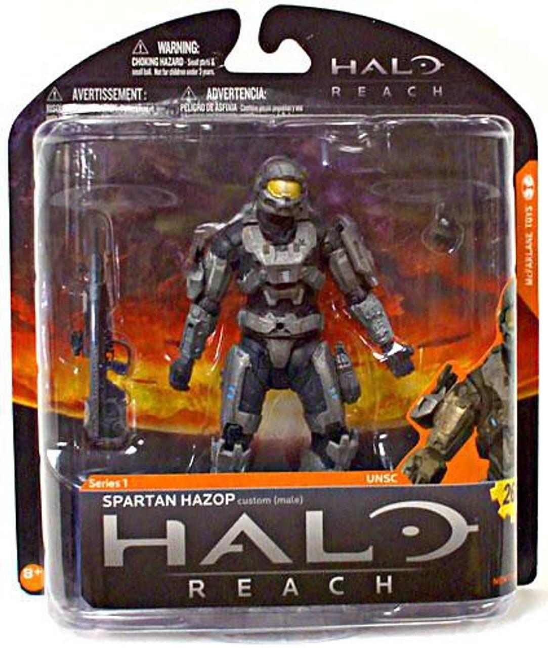 McFarlane Toys Halo Reach Series 1 Spartan Hazop Exclusive Action Figure [Steel]