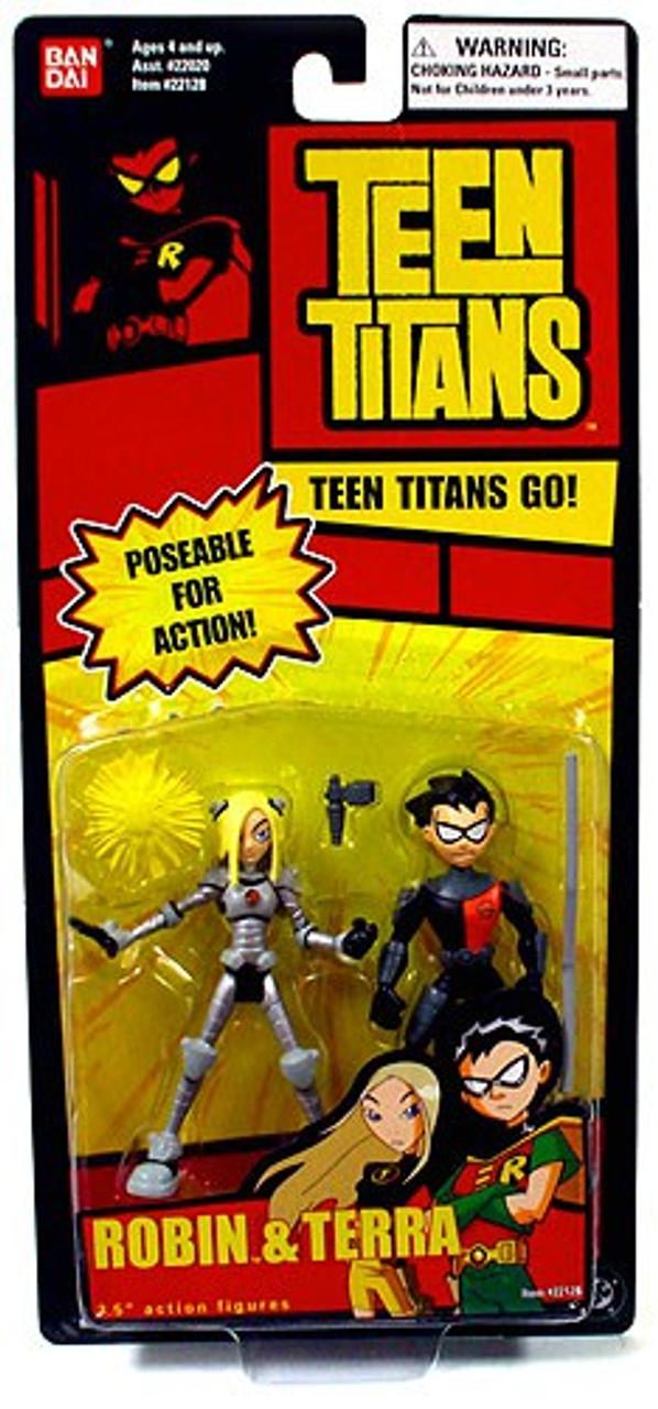 Teen Titans Go! Robin & Terra Action Figure 2-Pack
