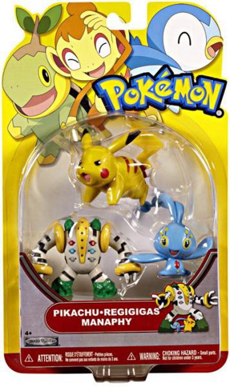 Pokemon HeartGold & Soulsilver Series 18 Pikachu, Regigigas & Manaphy Figure 3-Pack