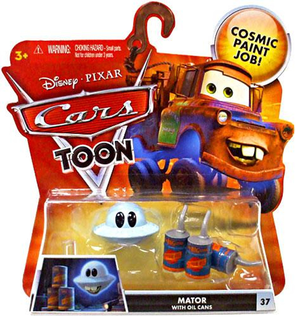 Disney Cars Cars Toon Main Series Mater with Oil Cans Diecast Car #37