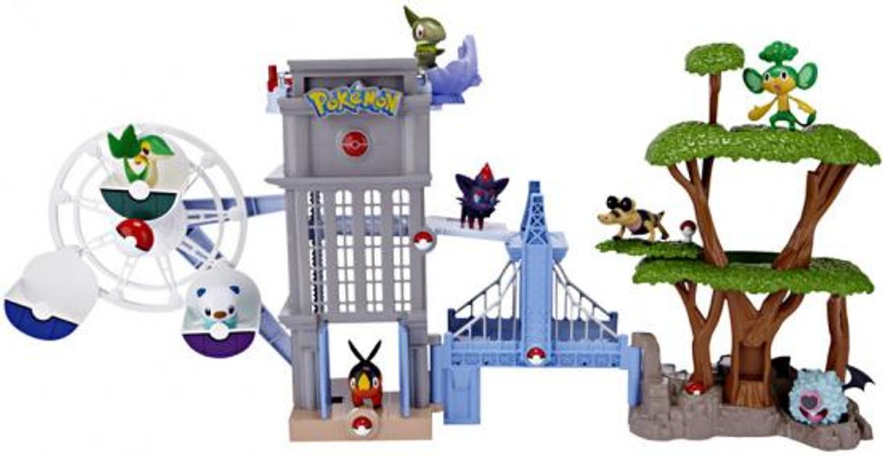 Pokemon Black & White Unova Region Playset