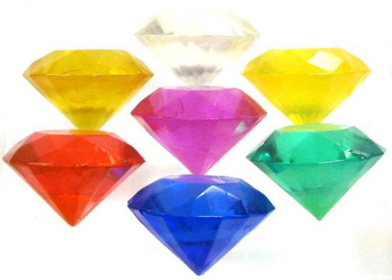 Sonic The Hedgehog Set of 7 Chaos Emeralds 3.5-Inch [Loose]