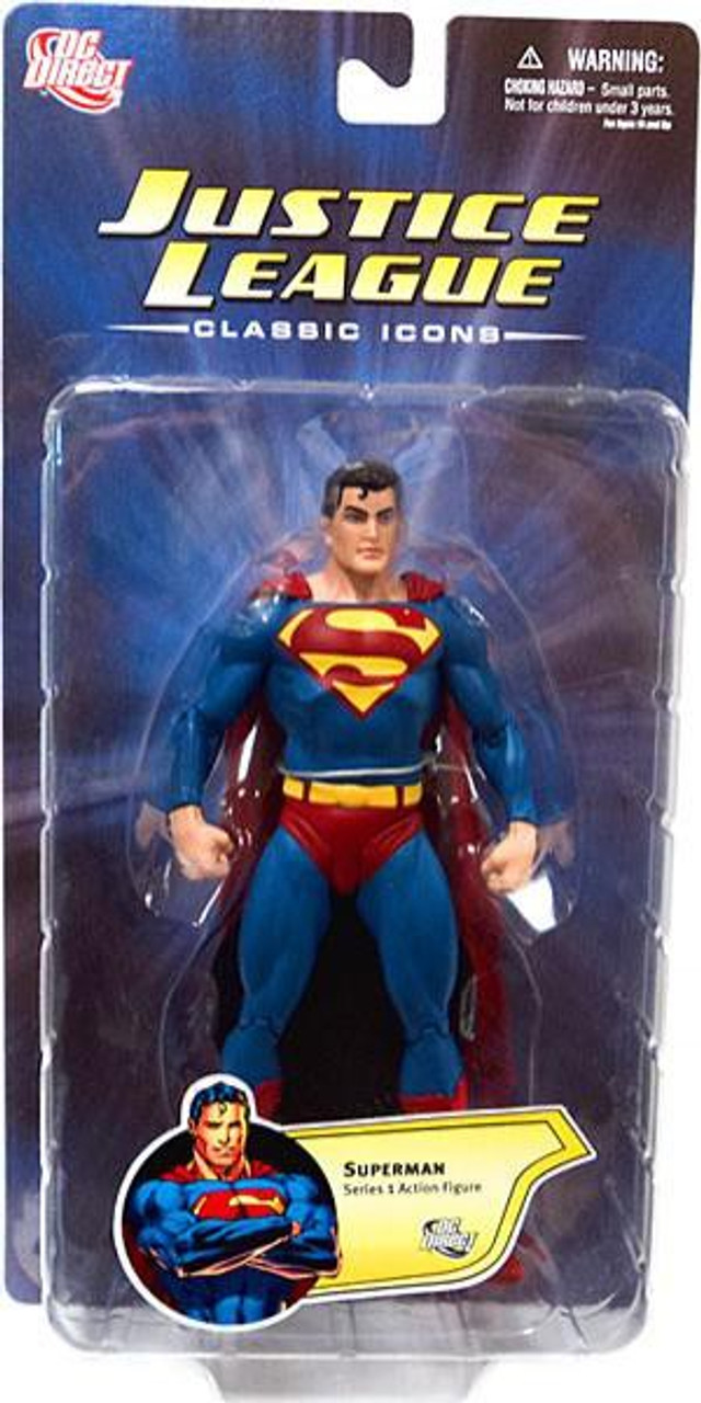 DC Justice League Classic Icons Series 1 Superman Action Figure