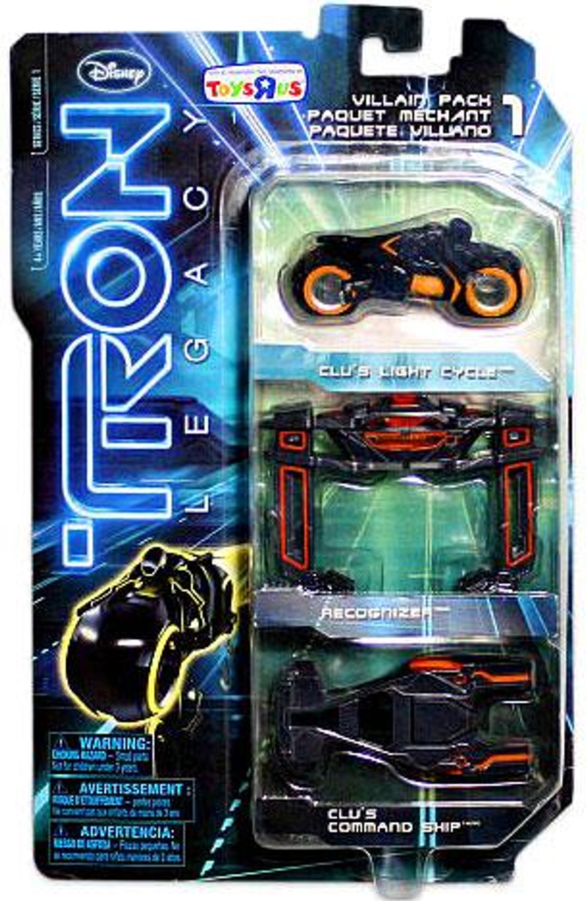 Tron Legacy Villain Exclusive Diecast Vehicle 3-Pack