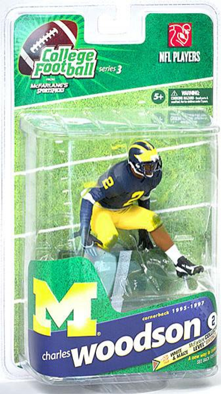 McFarlane Toys NCAA College Football Sports Picks Series 3 Charles Woodson Action Figure [Blue Jersey]