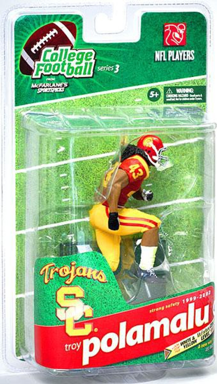 McFarlane Toys NCAA College Football Sports Picks Series 3 Troy Polamalu Action Figure [Red Jersey]