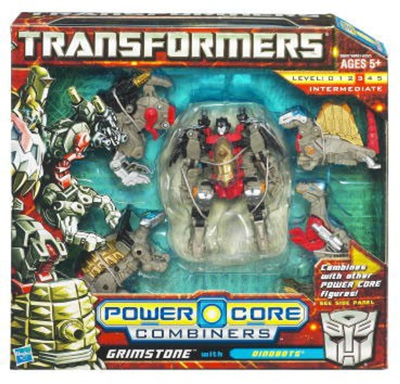 Transformers Power Core Combiners Grimstone with Dinobots Action Figure 2-Pack