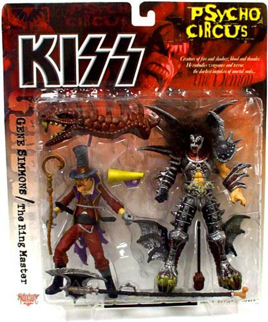 McFarlane Toys KISS Psycho Circus Gene Simmons & The Ring Master Action Figure 2-Pack
