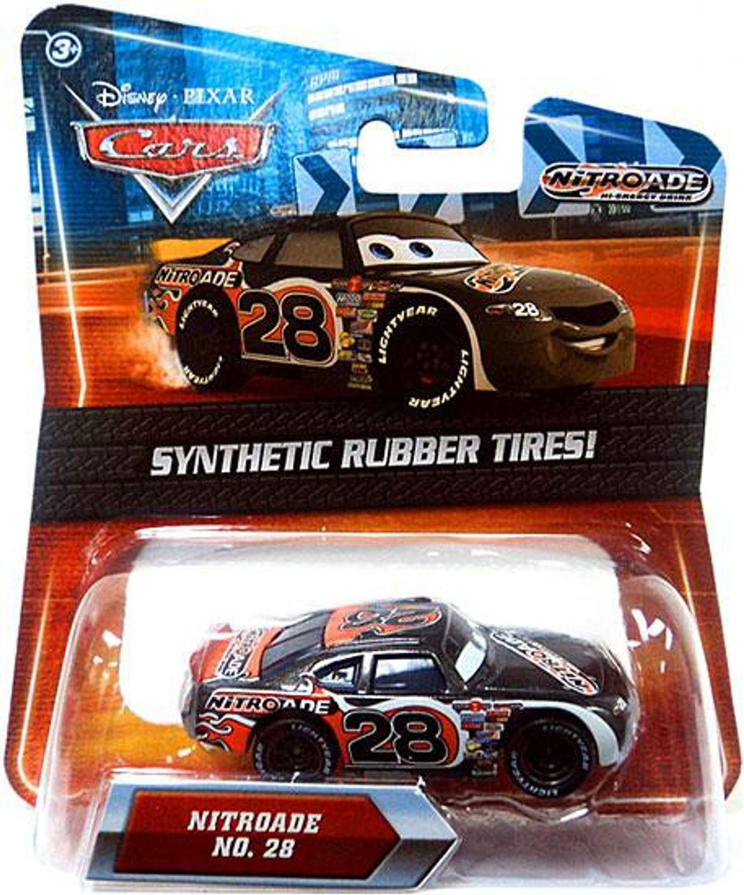 Disney Cars Synthetic Rubber Tires Nitroade Exclusive Diecast Car
