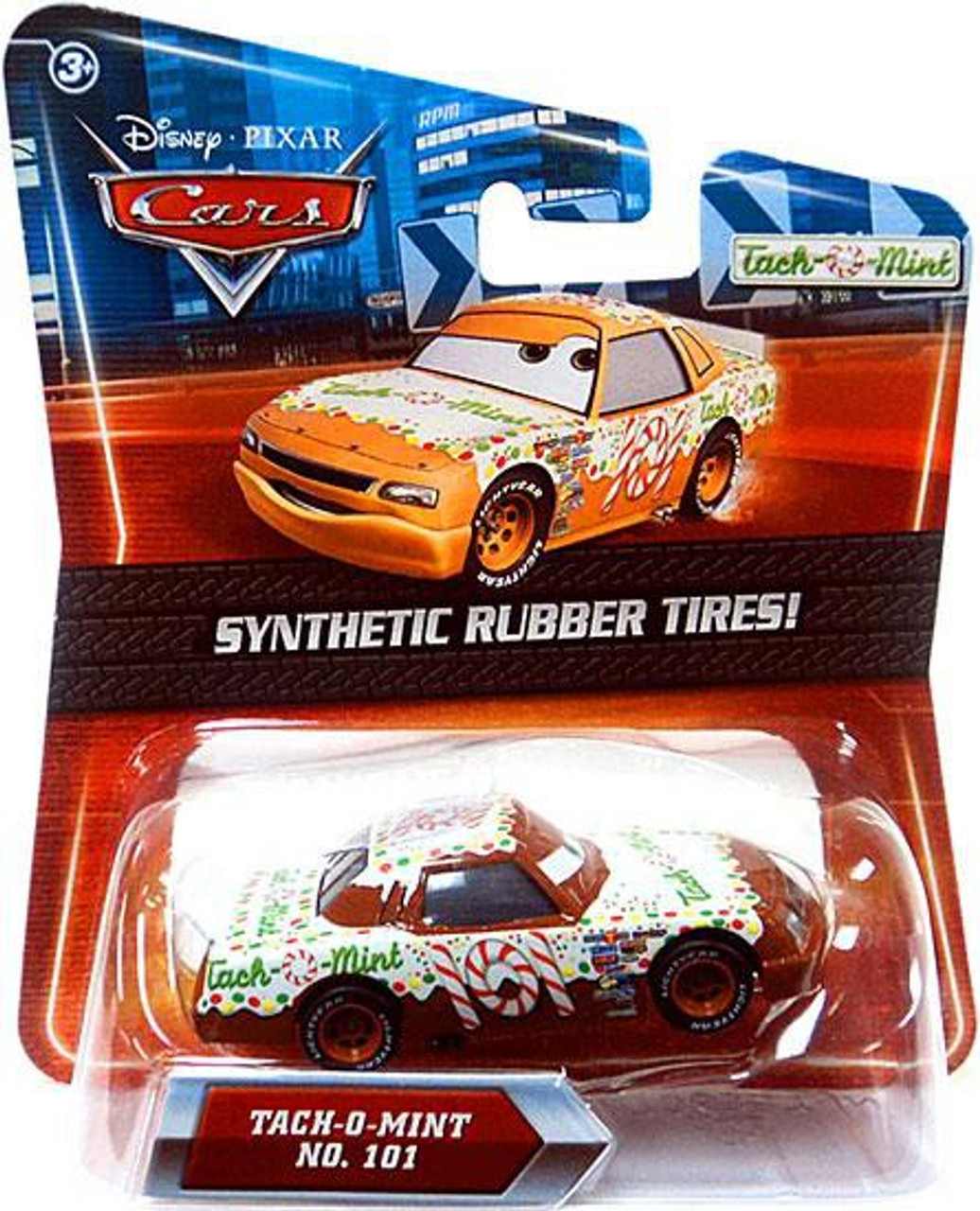 Disney Cars Synthetic Rubber Tires Tach-O-Mint Exclusive Diecast Car