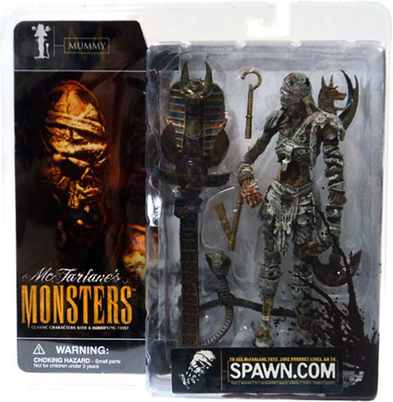 McFarlane Toys McFarlane's Monsters Series 1 Mummy Action Figure [Blood Splattered Package Variant]