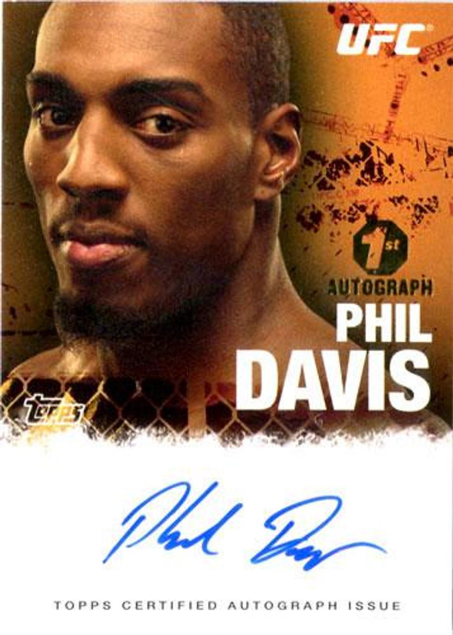 UFC 2010 Championship Autograph Fighters & Personalities Phil Davis FA-PHD