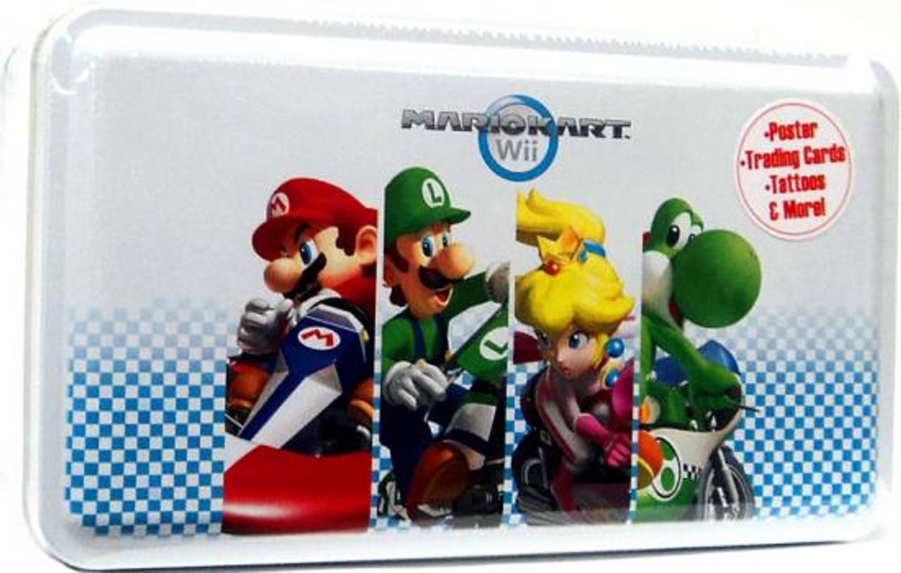 Super Mario Mario Kart Wii Trading Card Tin [Mario, Luigi, Princess, Yoshi Cover]