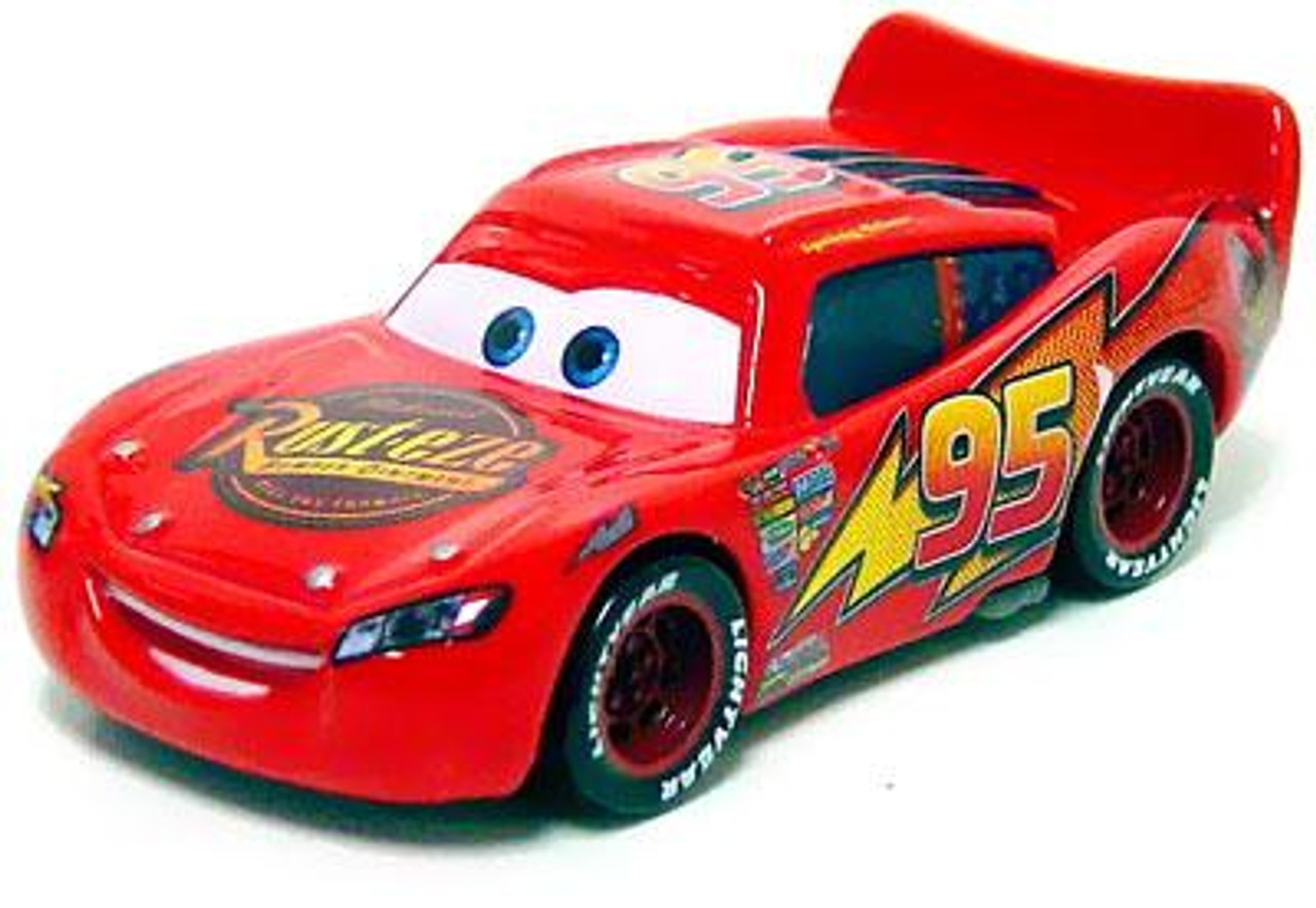 Disney Cars Loose Lightning McQueen with Rubber Tires Exclusive Diecast Car [Loose]