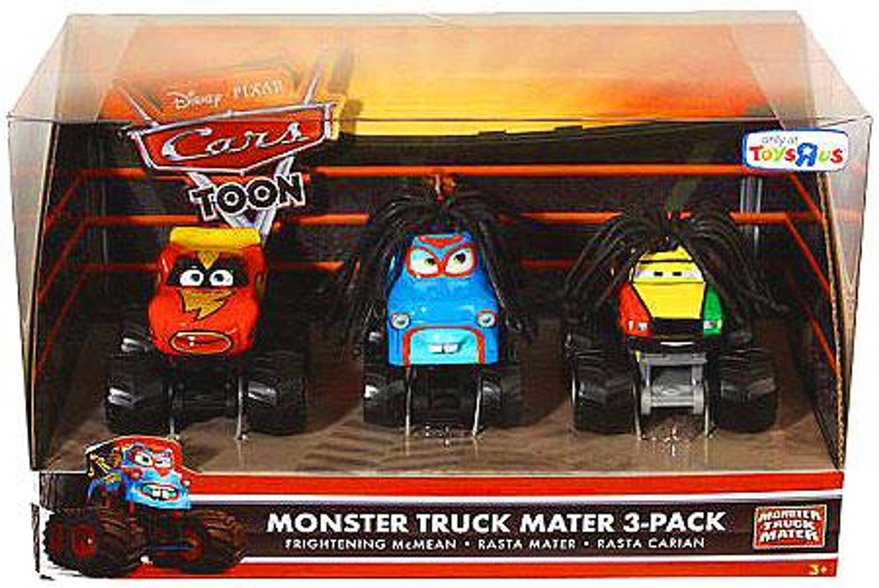 Disney Cars Cars Toon Multi-Packs Monster Truck Mater Exclusive Diecast Car Set [Set #2]