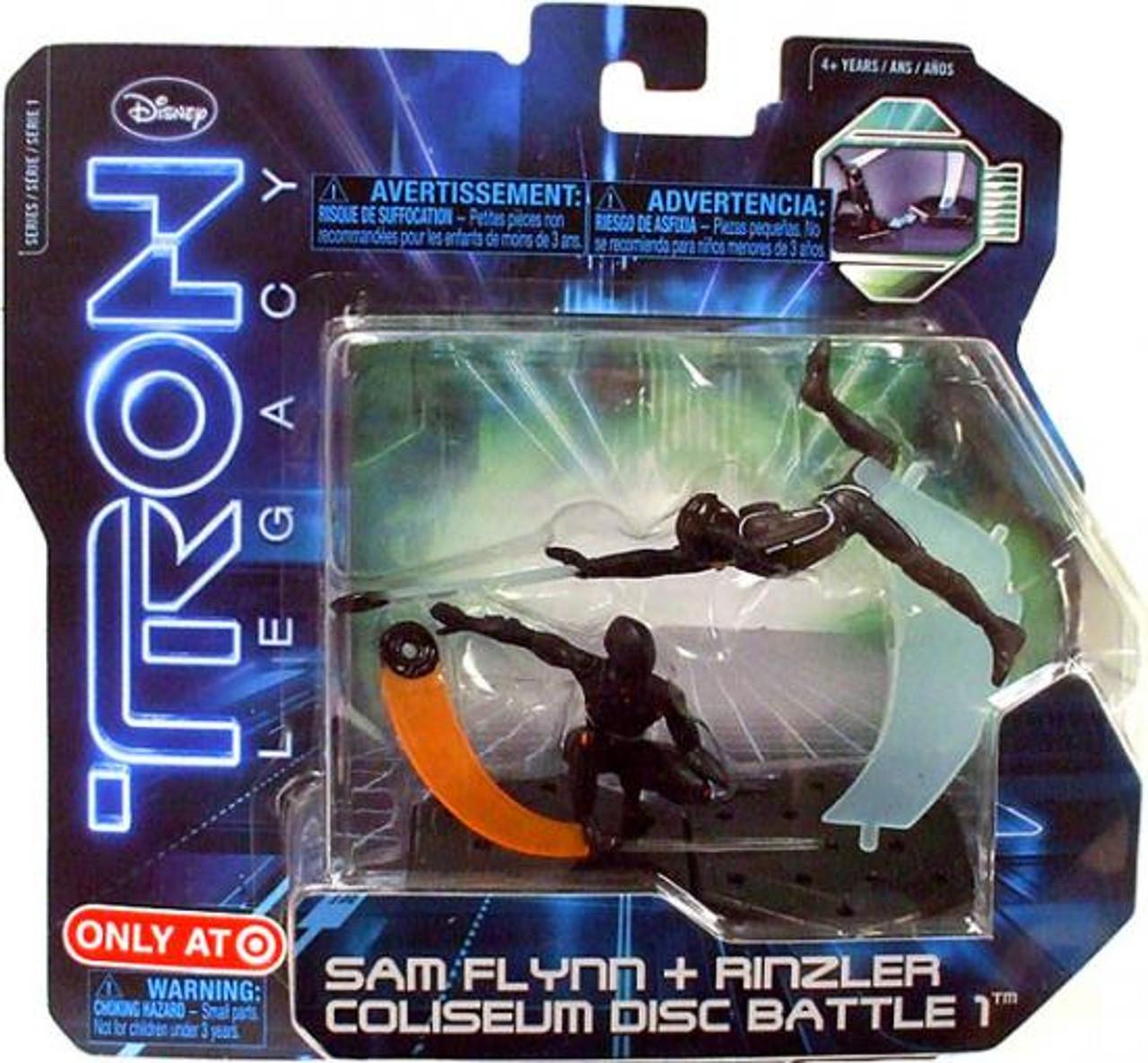 Tron Legacy Series 1 Sam Flynn & Rinzler Coliseum Disc Battle 1 Exclusive Figure 2-Pack