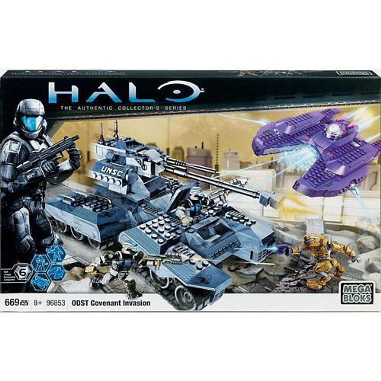 Mega Bloks Halo The Authentic Collector's Series Covenant Invasion Exclusive Set #96853