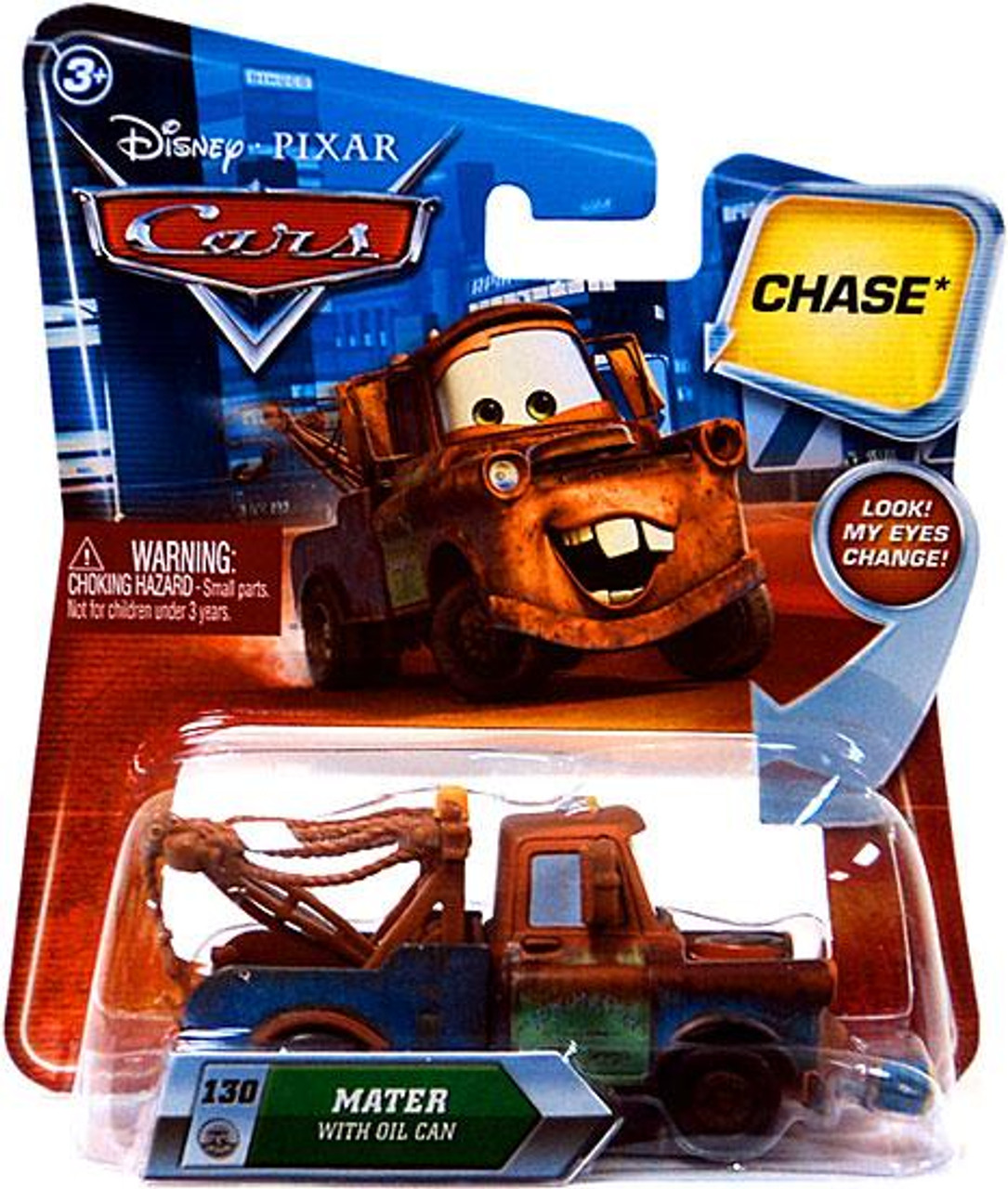 Disney Cars Lenticular Eyes Series 2 Mater with Oil Can Diecast Car