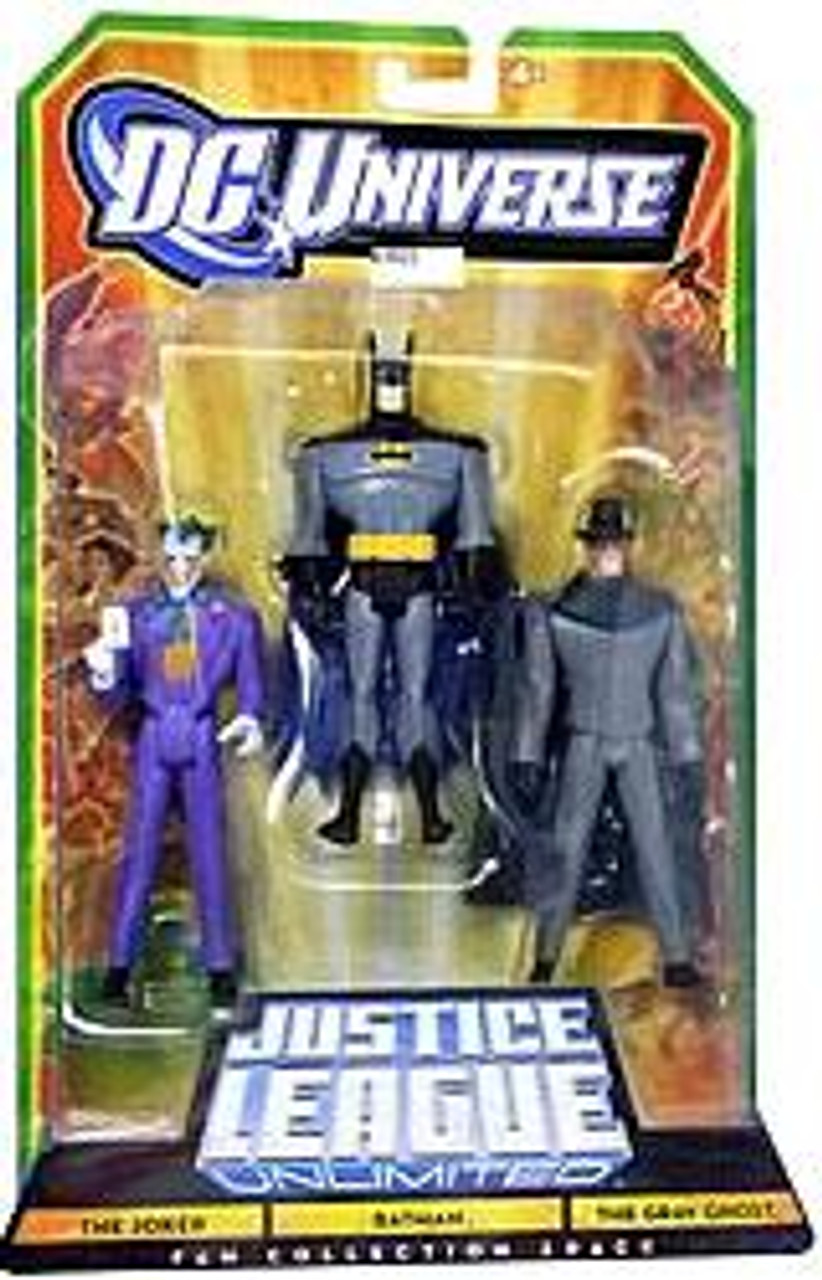 DC Universe Justice League Unlimited Fan Collection The Joker, Batman & Gray Ghost Action Figures