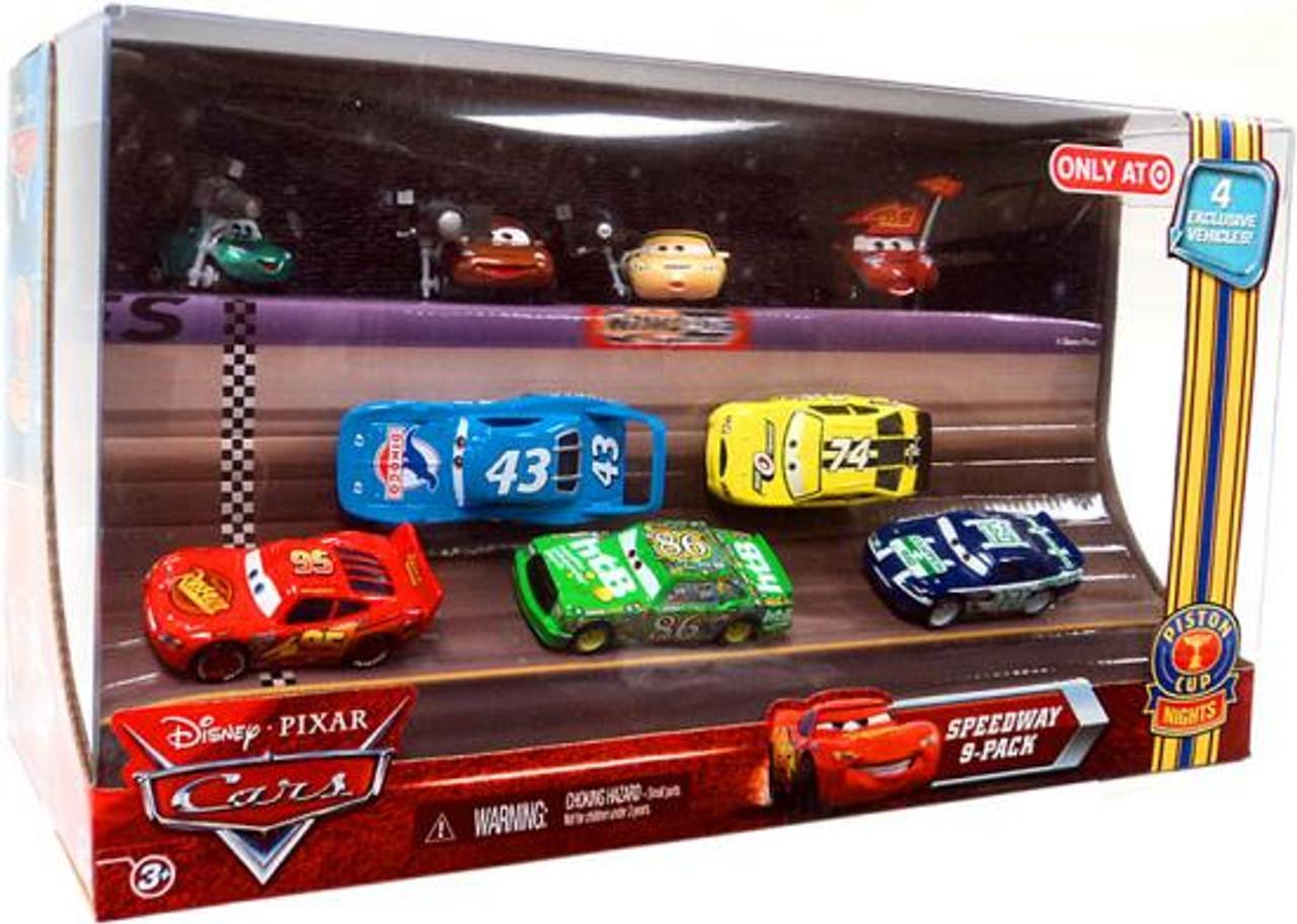 Disney Cars Multi-Packs Piston Cup Nights Speedway 9-Pack Exclusive Diecast Car Set