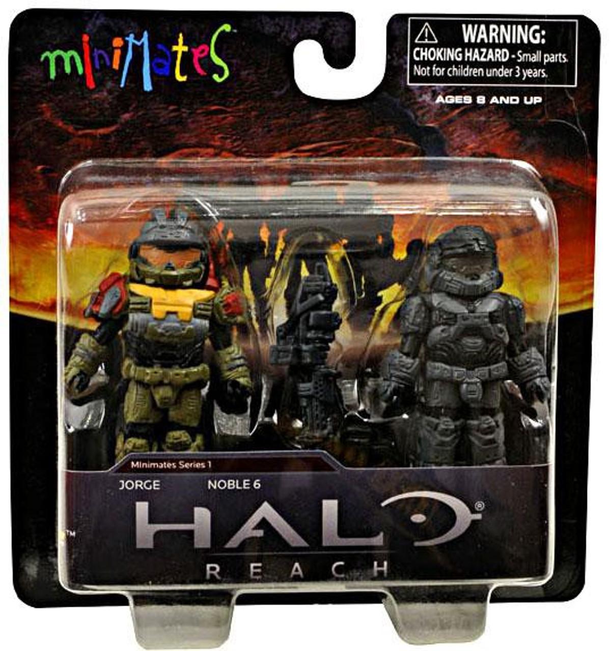 Halo Minimates Series 1 Jorge & Noble 6 Minifigure 2-Pack
