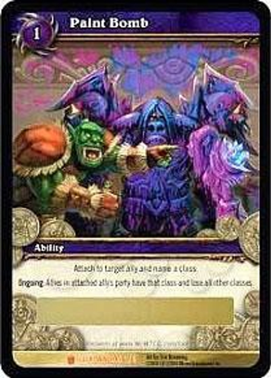 World of Warcraft Trading Card Game Icecrown Legendary Loot Paint Bomb #1