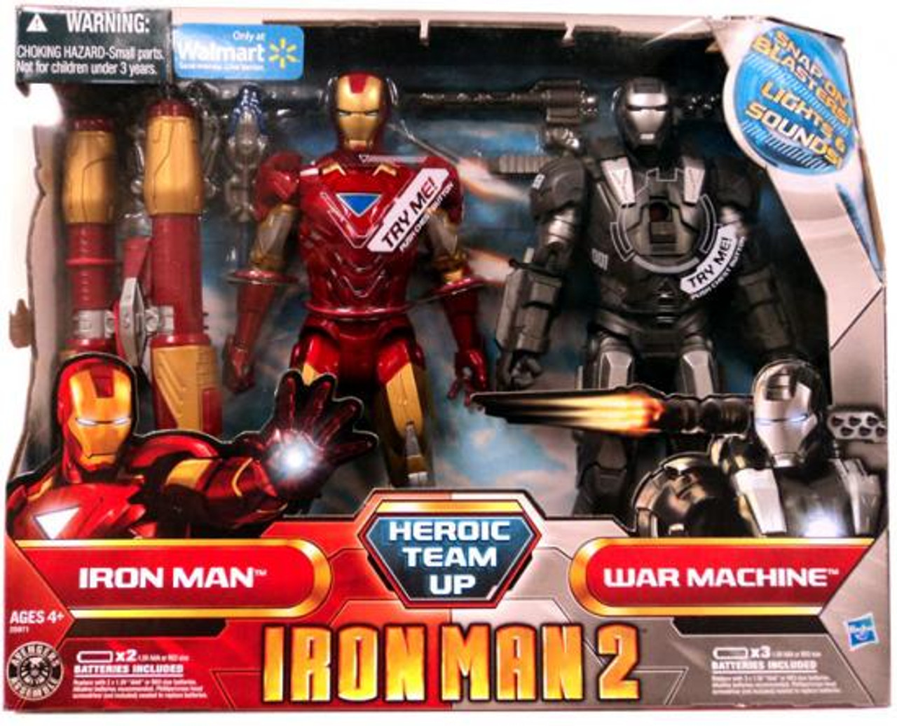 Iron Man 2 Heroic Team Up Exclusive Action Figure Set