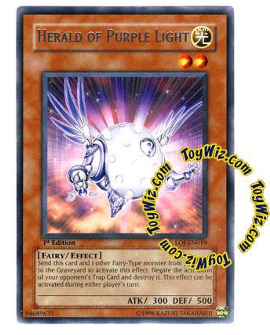 YuGiOh GX Enemy of Justice Rare Herald of Purple Light EOJ-EN019