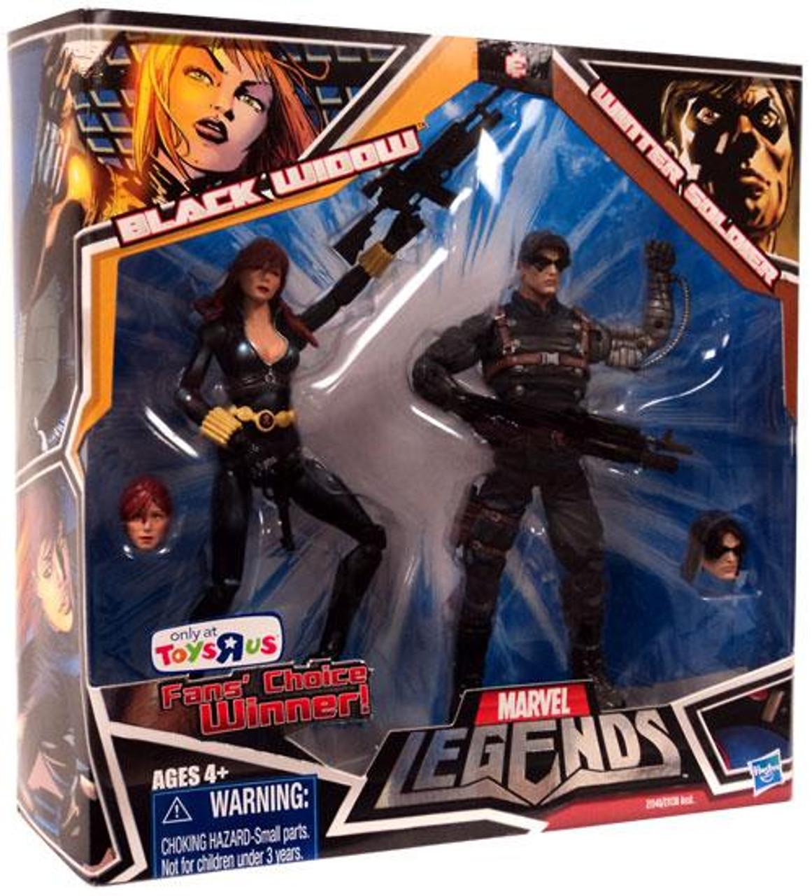 Marvel Legends Fan's Choice Black Widow & Winter Soldier Action Figure 2-Pack [Black Costume]