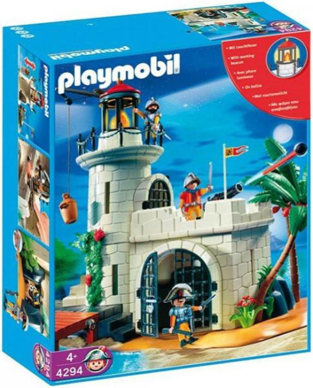 Playmobil Pirates Soldier Fortress with Lighthouse Set #4294