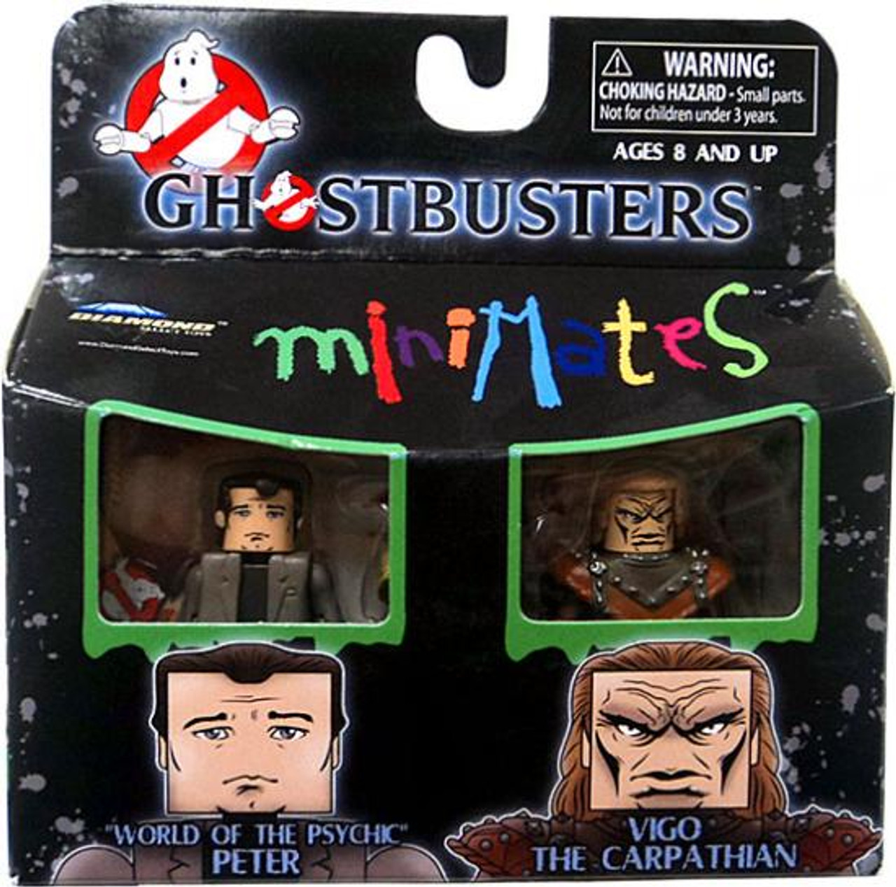 "Ghostbusters II Minimates ""World Of The Psychic"" Peter & Vigo The Carpathian Minifigure 2-Pack"