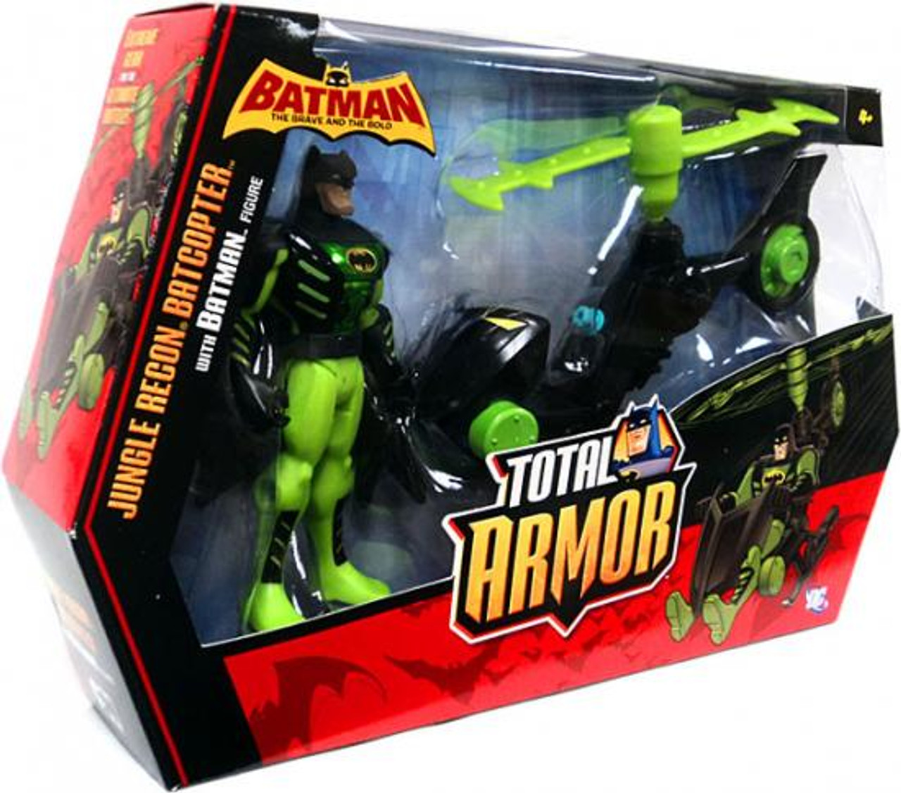 Batman The Brave and the Bold Total Armor Jungle Recon Batcopter Action Figure Set