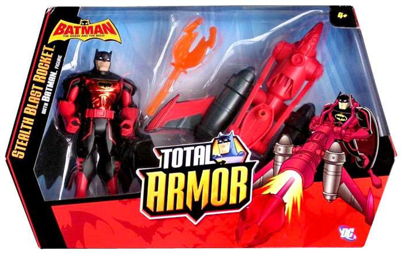 Batman The Brave and the Bold Total Armor Stealth Blast Rocket Action Figure Set