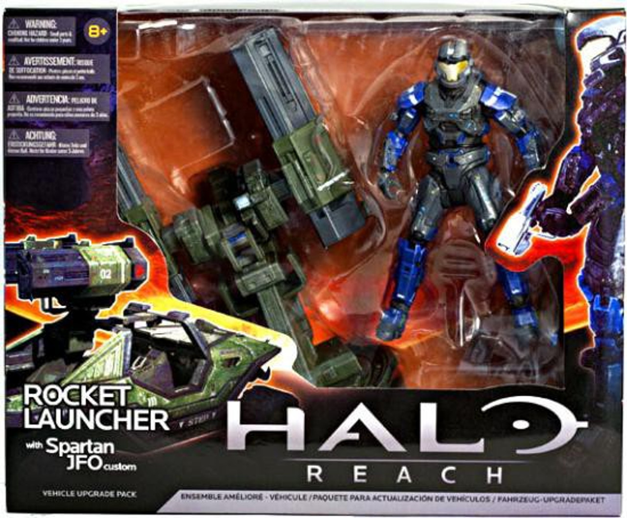 McFarlane Toys Halo Reach Vehicle Upgrade Packs Rocket Launcher with Spartan JFO Custom