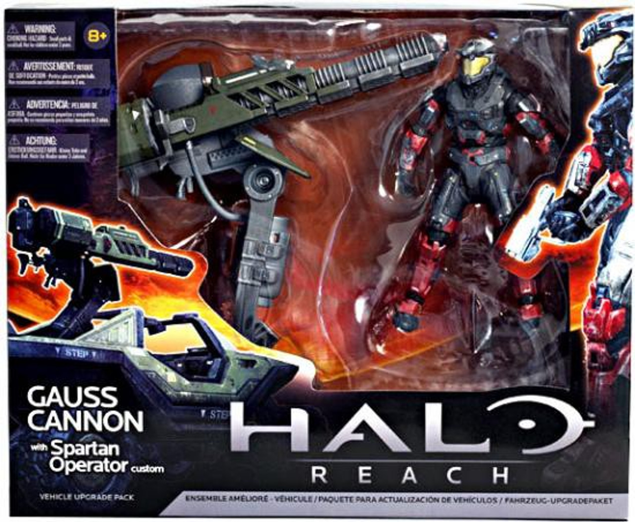 McFarlane Toys Halo Reach Vehicle Upgrade Packs Gauss Cannon with Spartan Operator Custom