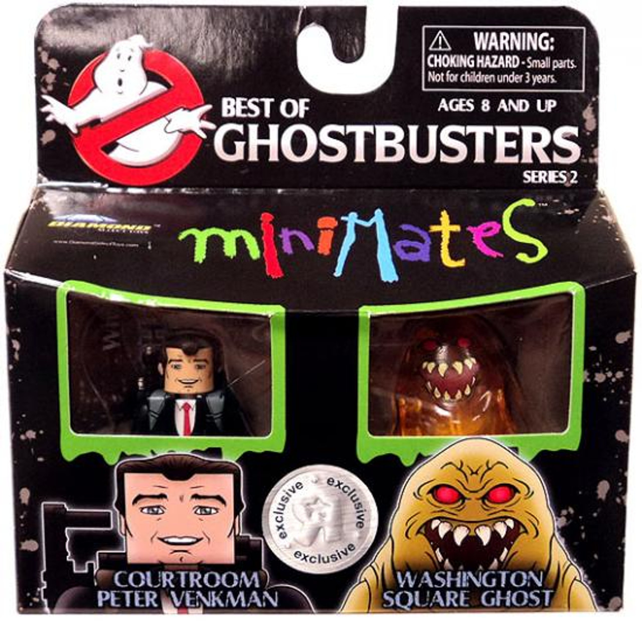 Ghostbusters Best of Minimates Series 2 Courtroom Peter Venkman & Washington Square Ghost Exclusive Minifigure 2-Pack