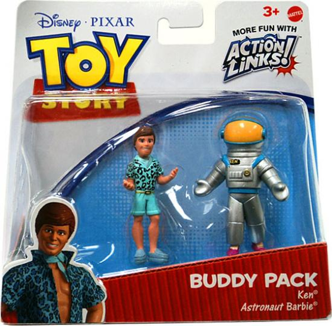 Toy Story Action Links Buddy Pack Ken & Astronaut Barbie Exclusive Mini Figure 2-Pack