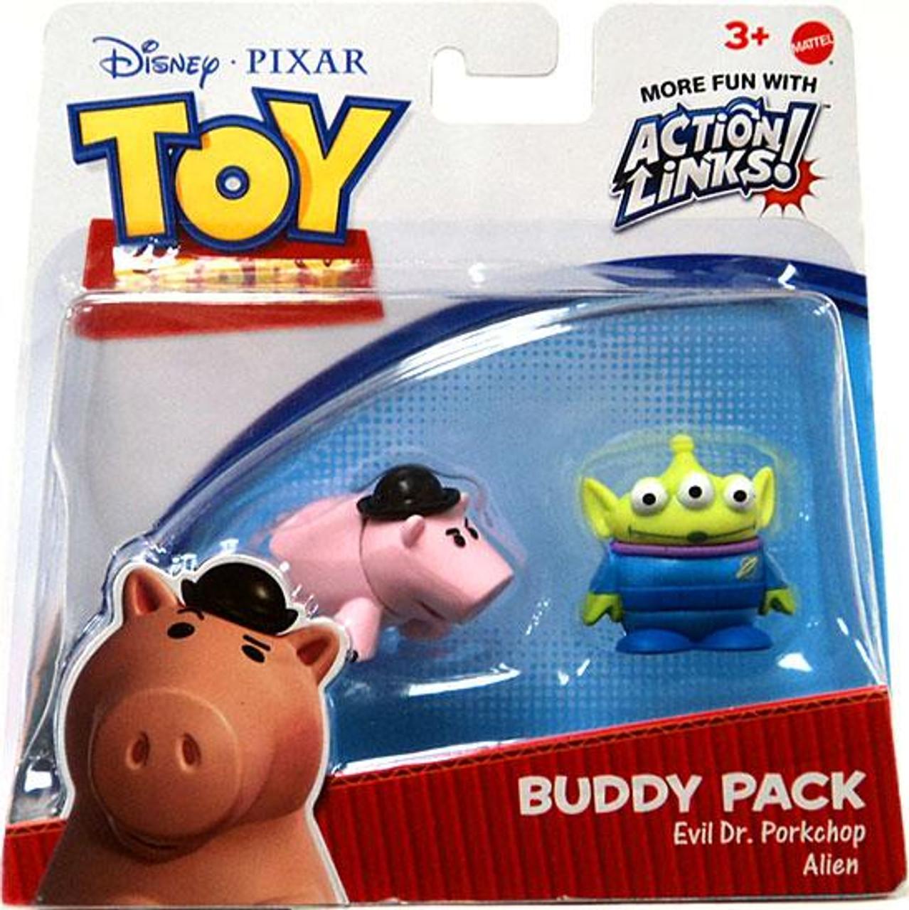 Toy Story Action Links Buddy Pack Evil Dr. Porkchop & Alien Exclusive Mini Figure 2-Pack