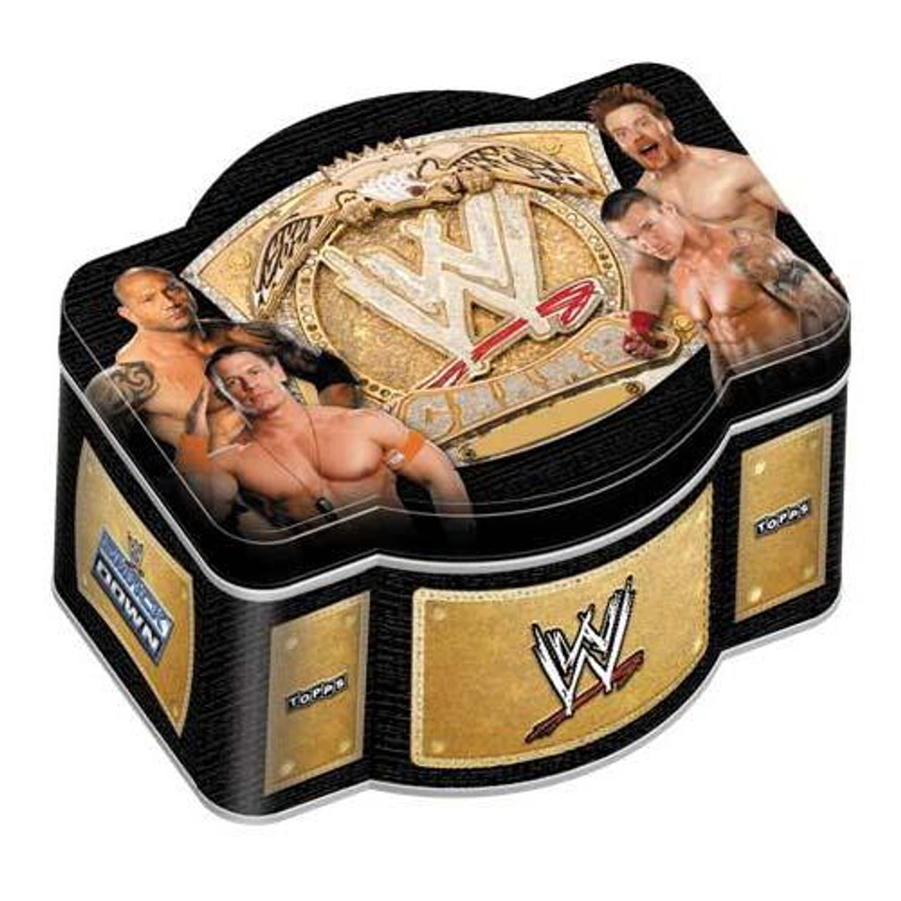 WWE Wrestling 2010 WWE World Heavyweight Champion Trading Card Tin